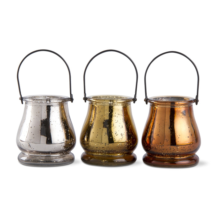 Mini Lanterns - Mercury Glass Finish
