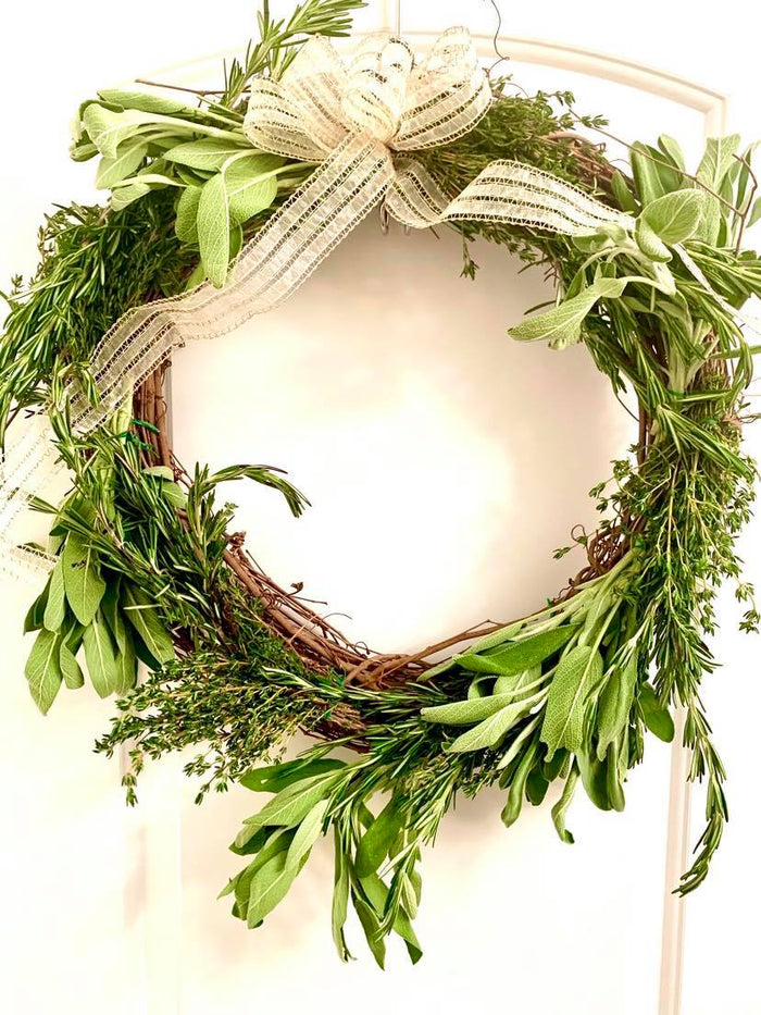 FRESH Autumnal Herb Wreath