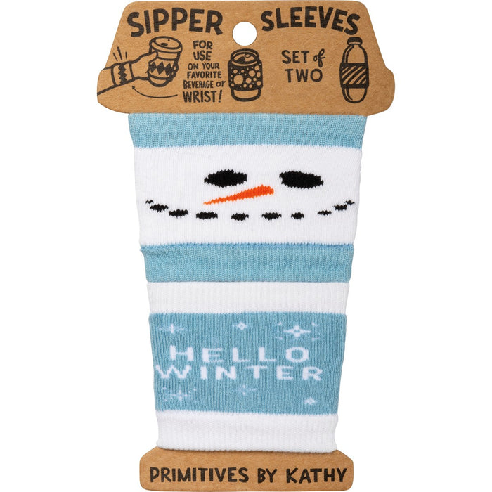 Sipper Sleeves - Hello Winter