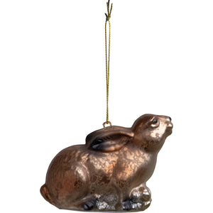 Glass Brown Bunny Ornament