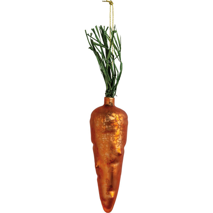 Glass Carrot Ornament