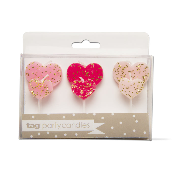 Heart Shaped Party Candles