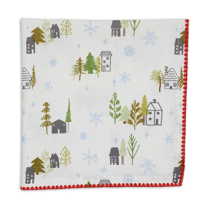 Snowy Cottages Napkin