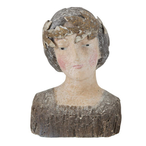 Vintage Magnesia Bust with Crown