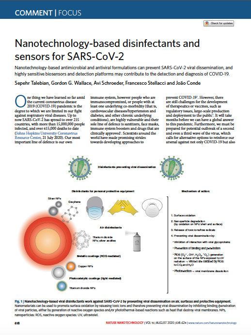 Nanotechnology-based disinfectants and sensors for SARS-CoV-2