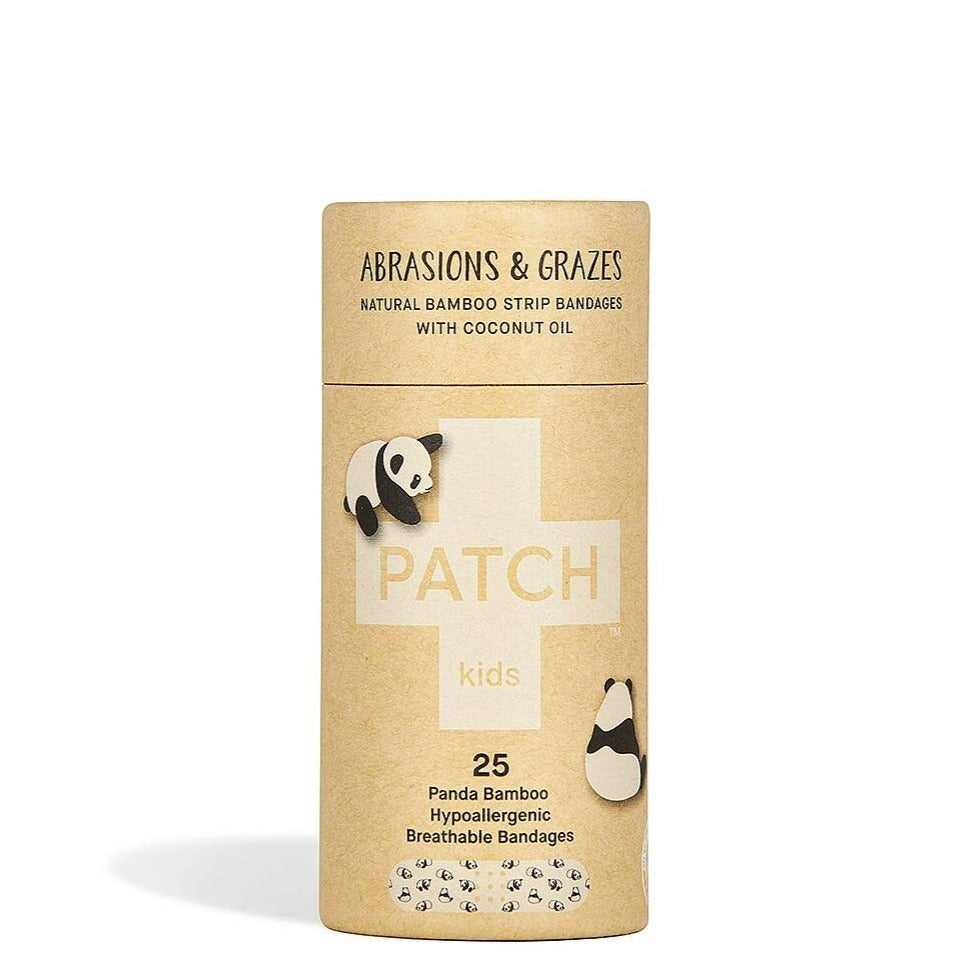 Patch bamboo plasters with coconut oil