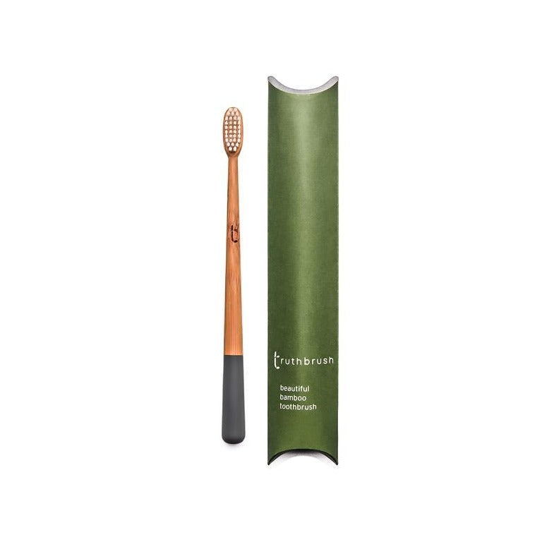 Truthbrush Bamboo Toothbrush Storm Grey