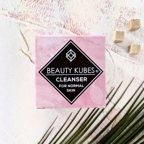 Beauthy Kubes skin cleanser packet and kubes