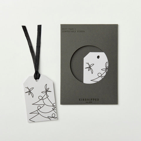 Kinshipped gift tags - tree lines