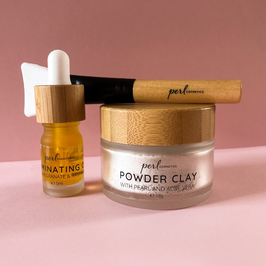 PERL Cosmetics Powder Clay Face Mask with Illuminating Oil