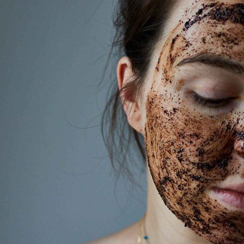Woman With UpCircle Face Scrub