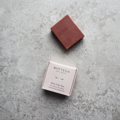 Bottega Zero Waste Rose Clay Spa Face & Body Soap showing packaging