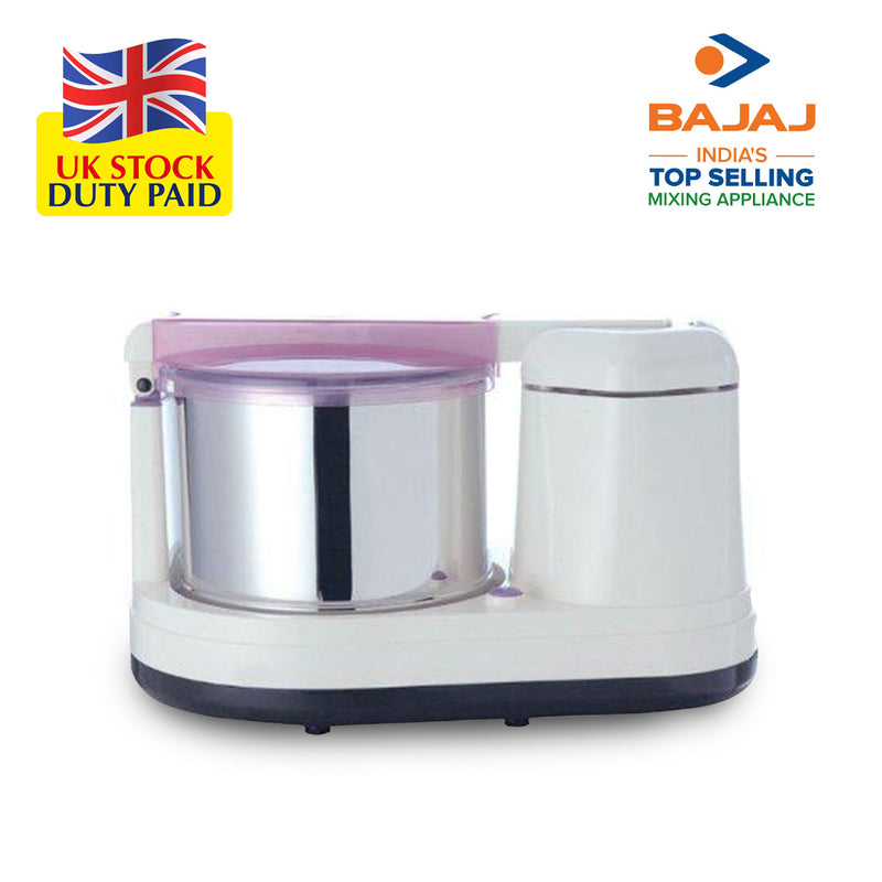 Bajaj WX 9 175-Watt Wet Grinder (Arm, White & Pink)