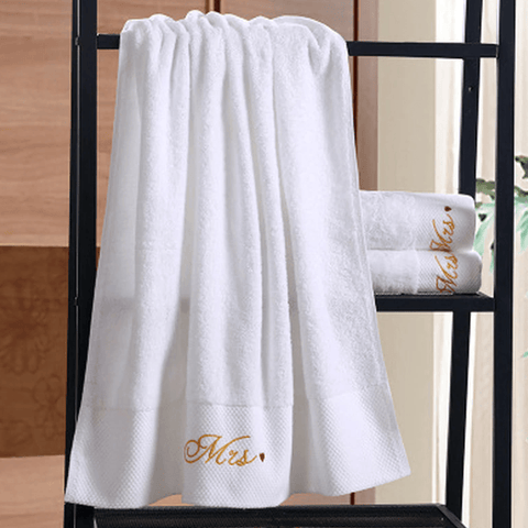 serviette de bain couple