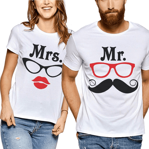 tee shirt commun couple lunette