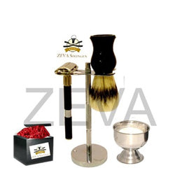 DE Safety Razor Shaving Gift Set Black