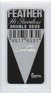 Feather Hi-Stainless Platinum Double Edge Blades 10