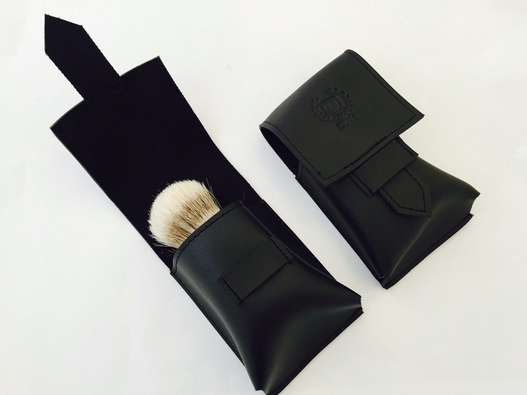 SYNTHETIC LEATHER PROTECTIVE TRAVELING CASE, COVER FOR SHAVING BRUSH