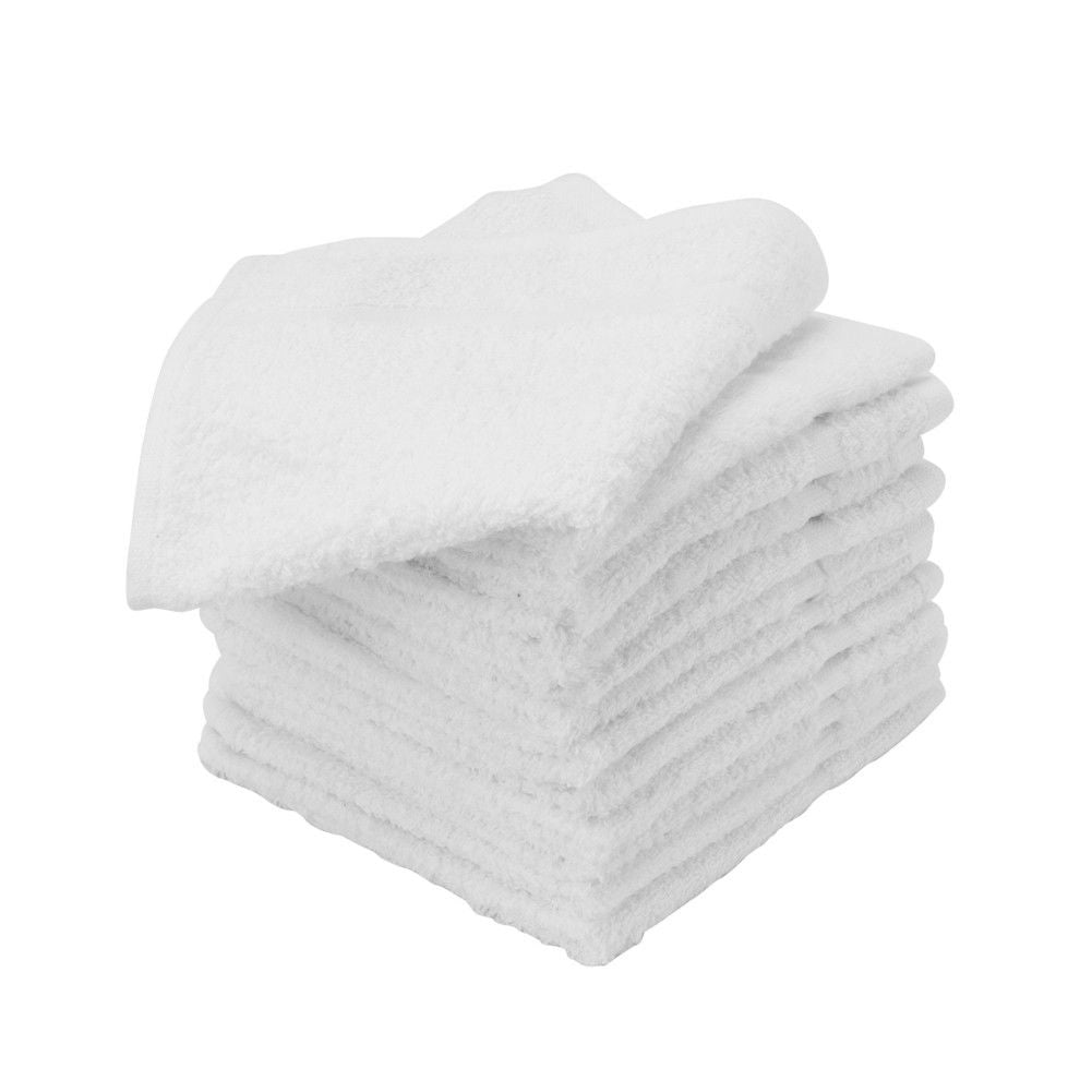 1 DOZEN WHITE SALON BARBER HAND TOWELS - Zeepk Beauty & Barber Supply