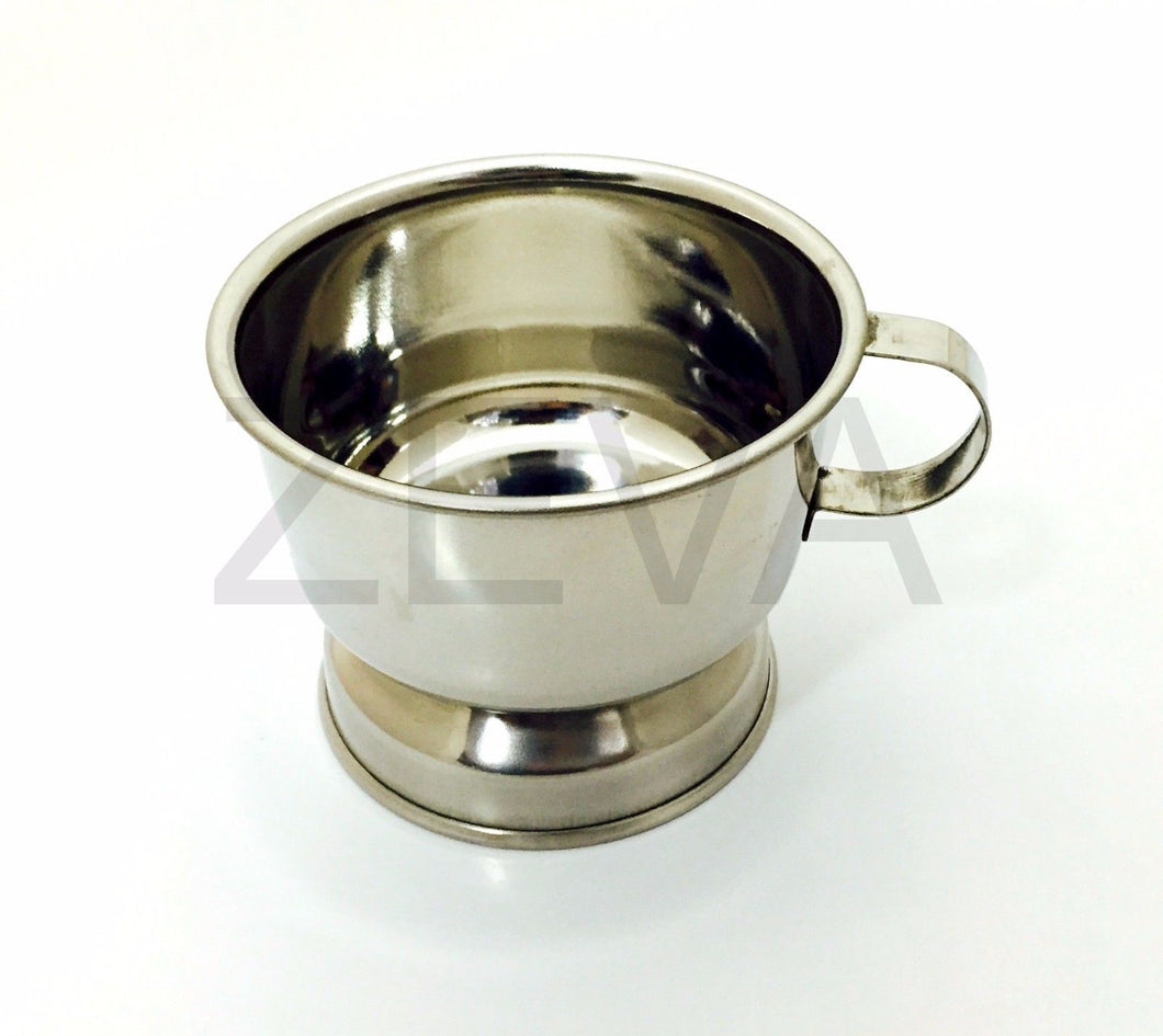 Stainless Steel Barber Men's Shaving Cup Bowl Mug with Handle
