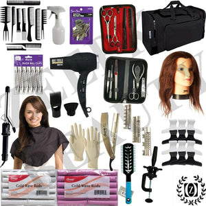 Beauty & Barber School Kit Cosmetology Student Barber School Practice Board Approved w/ Manikin Head - Liberty Beauty Supply