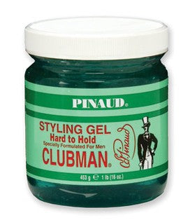 Clubman Hard to Hold Styling Gel, Jar, 16 oz.