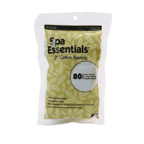 Graham Spa Essentials 3'' Cotton Rounds 80 Count