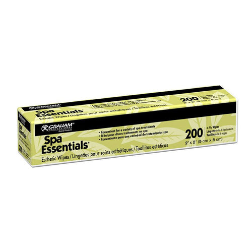 Graham Spa Essentials Nonwoven Esthetic Wipes 200 count