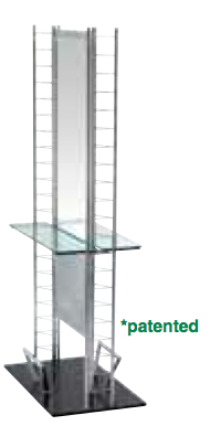 Pibb PB142 E Z System Island Styling Station-Glass Shelves