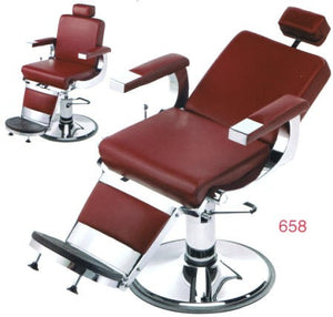 Pibbs 658 || Barbiere Barber Chair with 1608 Base