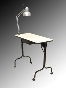 "Pibbs 974 Manicure Table - Fold Legs with Lamp 16""x31"""