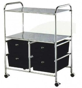 Pibbs D24 4 Drawer Cart Metal Frame