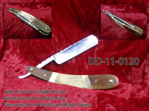 ZEVA CUSTOM HAND MADE CARBON STEEL STRAIGHT RAZOR / KNIFE