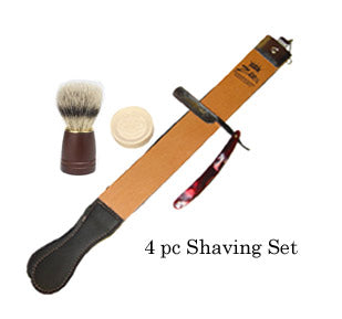 Zeepk Straight Razor Strop Soap Bass shaving Bursh SET 12