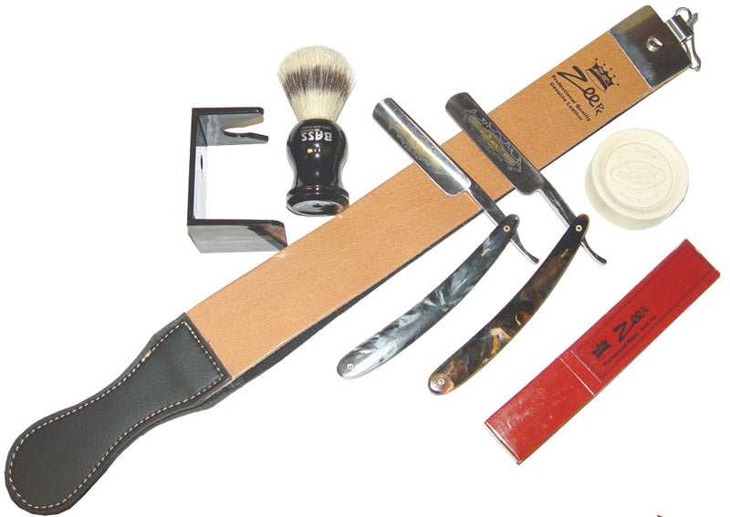 Zeepk Straight Razor Strop Soap Brush shaving
