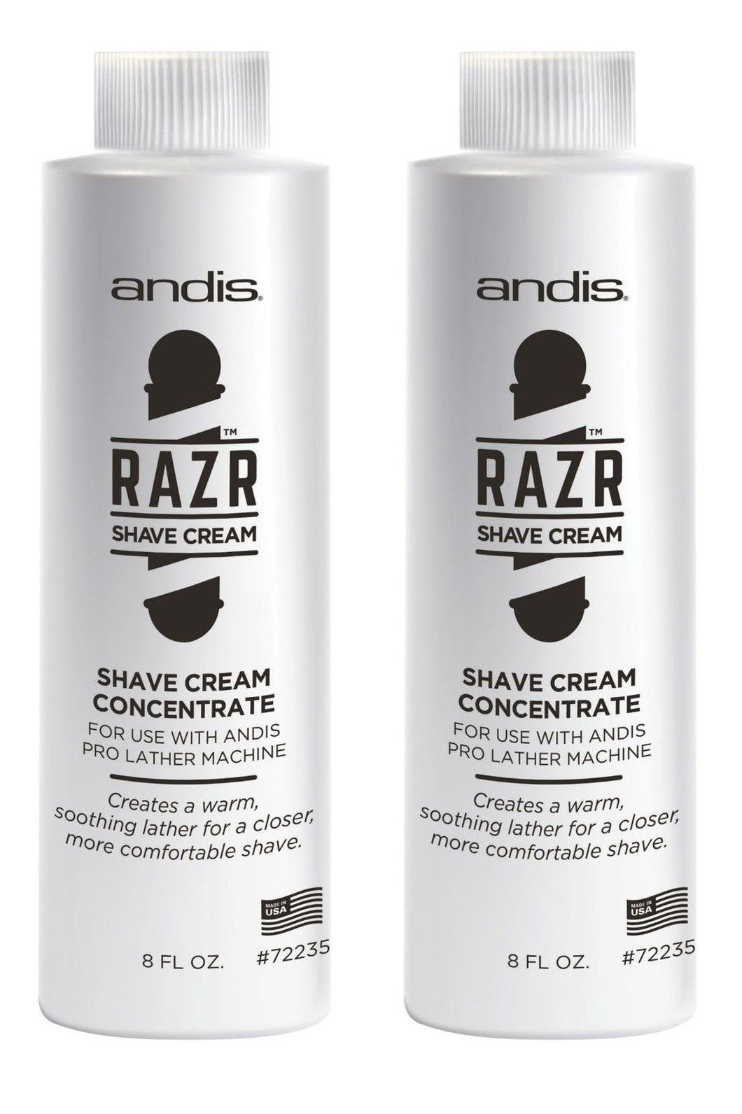 Andis RAZR Shave Cream Concentrate TWO #72235 for Hot Lather Machine Latherizer