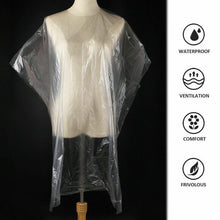 Load image into Gallery viewer, 50 PCS Disposable Hair Cutting Capes Hairdressing Barber Apron Dyeing Gown Cloak