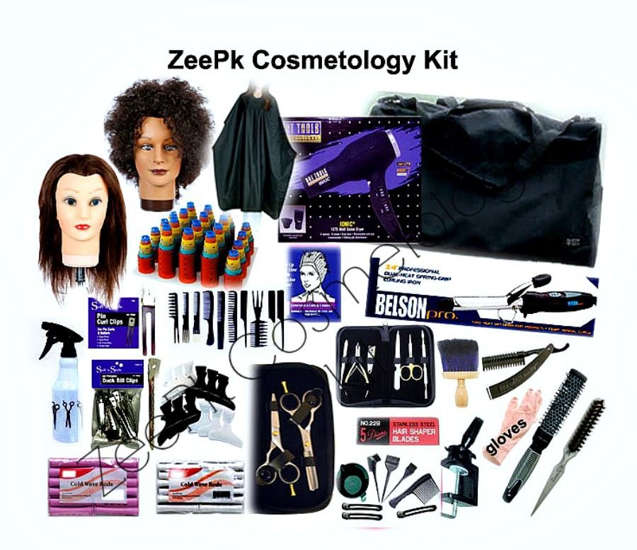 ZeePk Cosmetology School Student Kit for Hair Styling, Cutting, Beauty School