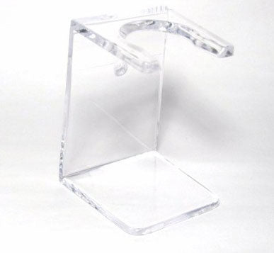Shaving Brush Stand- Clear Plastic Sit or Wall Mount