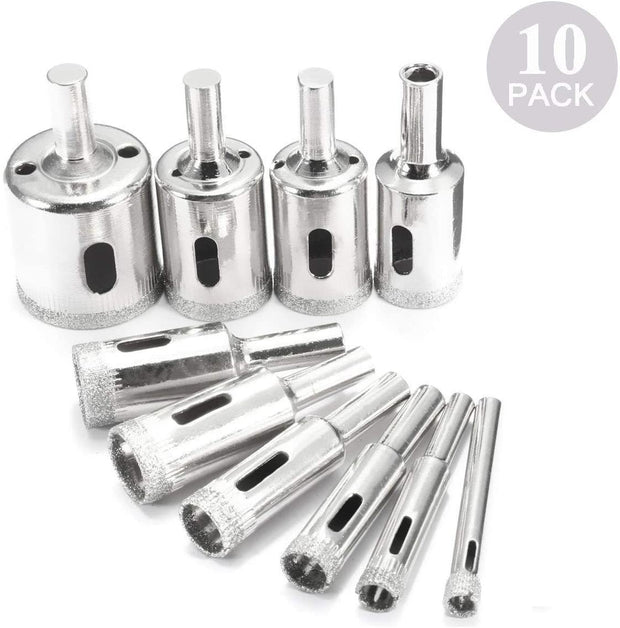 10 Pcs Glass Tile Marble Hole Drilling Bits