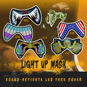 Halloween Sound-Activate LED Face Cover