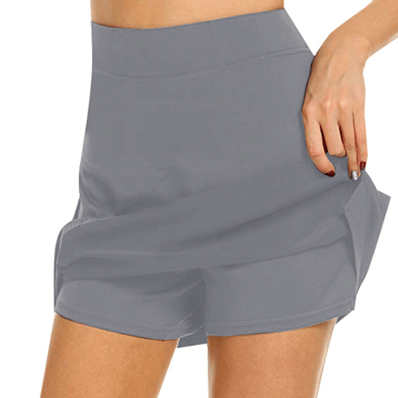 Chafe-Free Skort With Hidden Pocket 1688 S Grey