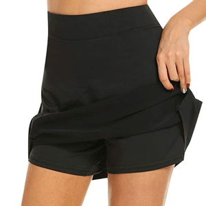 Chafe-Free Skort With Hidden Pocket 1688 M Black