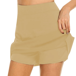 Chafe-Free Skort With Hidden Pocket 1688 S Khaki