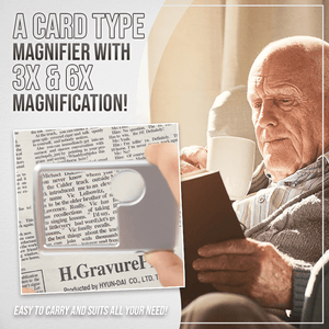 Card-Type LED Reading Magnifier