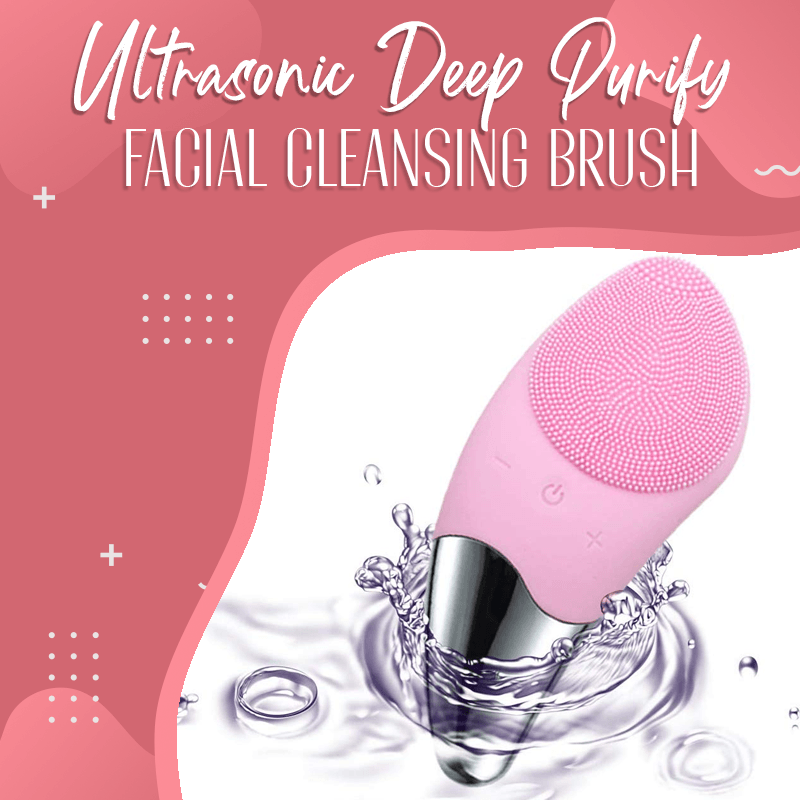 Ultrasonic Deep Purify Facial Cleansing Brush