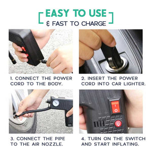 All-In-One Portable Electric Car Air Pump