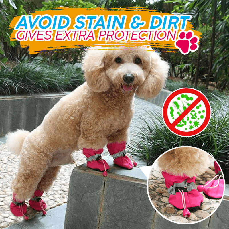 Adjustable Non-Slip Pets Shoes Cover(4pcs)