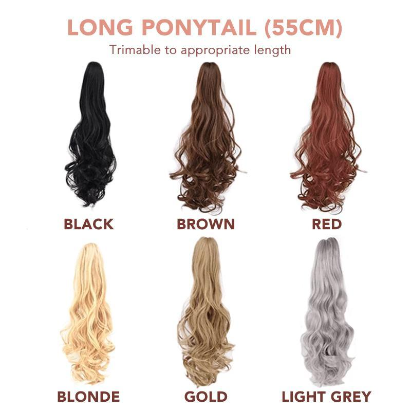 Claw-On Instant Ponytail Hair Extension 1688 Long Ponytail (55cm) Brown