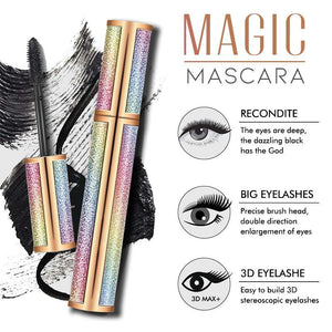 4D Waterproof Silk Fiber Thick Lengthening Mascara 1688